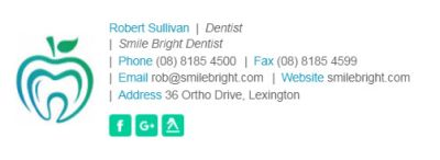 Email Signatures for Dentists - Horizontal Template