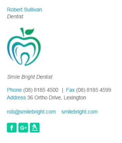 Email Signatures for Dentists - The Business 2 Template