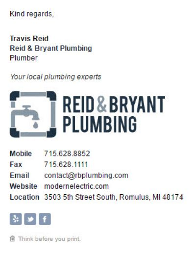 Corporate Template for Plumbers