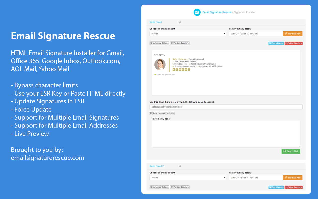 Browser Extension Email Signatures Email Signature Rescue