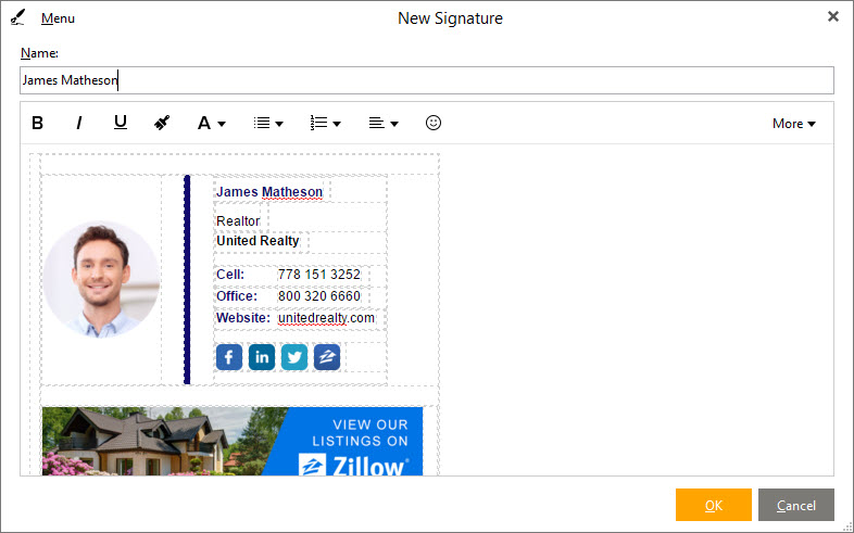 How To Setup An Email Signature In Em Client