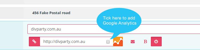 add google  analytics to links