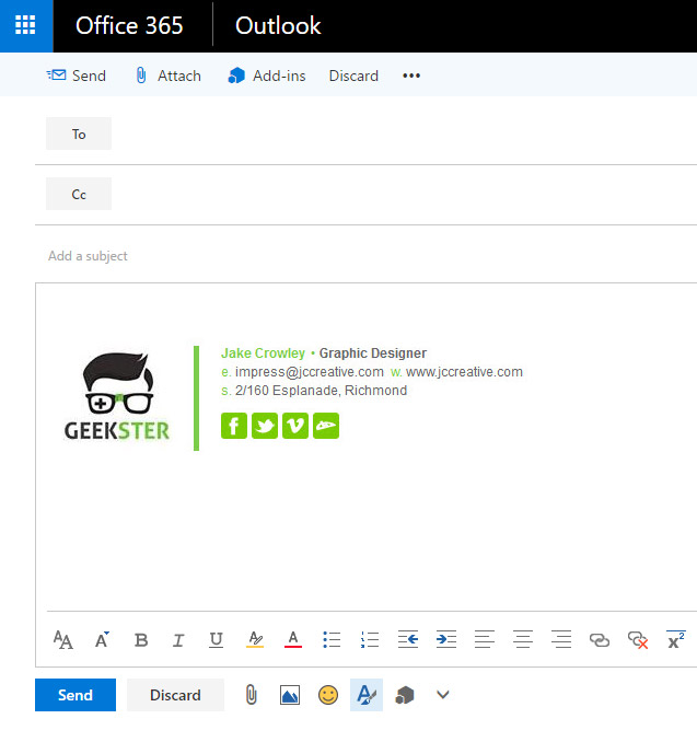 Email Signatures For Outlook Web App OWA